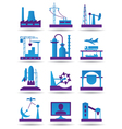 Plants for light and heavy industry vector image