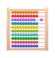 realistic 3d detailed color wooden abacus vector image vector image