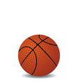 realistic illustration of basket ball vector image vector image