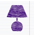 Scrible icon on paper vector image vector image