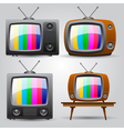 set of four TV vector image vector image