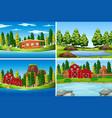 set of outdoor scenes vector image