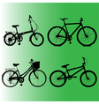 Silhouettes Element to Bicycles vector image