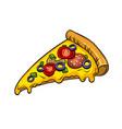 slice of pizza pop art vector image vector image