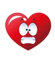 stressed heart cartoon icon vector image vector image