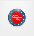 stylish american independence day design badge vector image vector image
