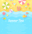 Summer banners with flat travel elements vector image vector image