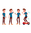 teen boy poses set friends life for vector image vector image
