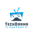 television drama game logo vector image vector image