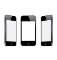 Three black smartphones vector image