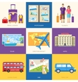 Travel guide infographic with vacation tour vector image vector image