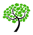 tree on white background vector image