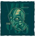 ufo t-shirt label design vector image