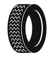 vehicle tire icon simple style vector image vector image