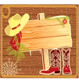 western christmas vector image vector image