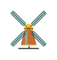 Windmill icon flat style vector image vector image