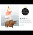 Farm animals background vector image