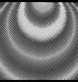 black abstract circle wave frame halftone dots vector image
