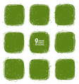 Grunge retro green shapes vector image