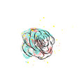 hand drawn abstract graphic drawing vector image