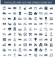 100 cargo icons vector image vector image