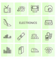 14 electronics icons vector image vector image