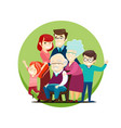 a large family vector image