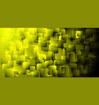a pattern of gold cubes for the decoration of vector image vector image
