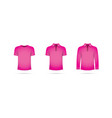 a set of pink t-shirts vector image vector image