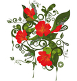 Abstract pattern with flowers vector image
