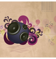 Abstract vintage music background vector image vector image