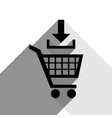 add to shopping cart sign black icon with vector image vector image