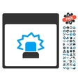 Alert Calendar Page Icon With Bonus vector image vector image