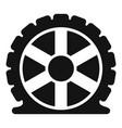 auto tire icon simple style vector image vector image