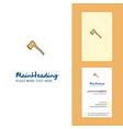 axe creative logo and business card vertical vector image