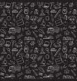 Back to school seamless pattern kids doodles