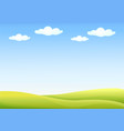 background nature landscape with sky hills and vector image vector image