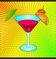 bloody mary cocktail pop art hand drawn vector image vector image