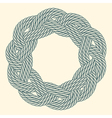 Blue rope decorative round frame vector image vector image