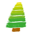 brush stroke color pine tree art image vector image