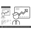 Business conference line icon vector image vector image