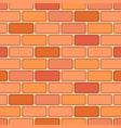 cartoon red brick seamless pattern vector image
