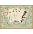 Casino calligraphic vintage style poster vector image vector image