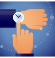 checking time vector image vector image