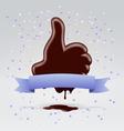Choco like hand vector image