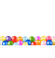 colorful balloons border with white background vector image vector image
