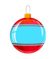 colour decorated christmas ball isolated