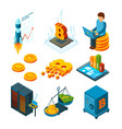 crypto currency business digital ico startup vector image