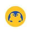 cute penguin circular icon vector image