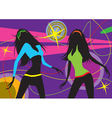 dancing girls in a club vector image vector image
